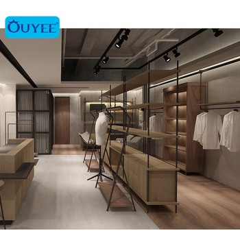 Modern Custom Men Clothes Tailoring Shop Showcase, Elegant Men Garment Shop Furniture