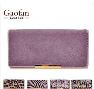 gaofan фиолетовый серии   кожа   Мисс Ма Мао длинный кошелек  women бумажник b1212a07c6e