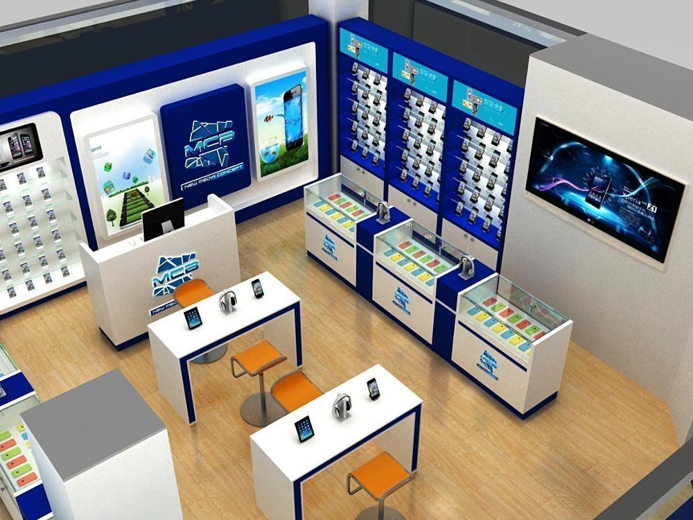 Customized Modern Furniture Design For Mobile Shop Store Furniture