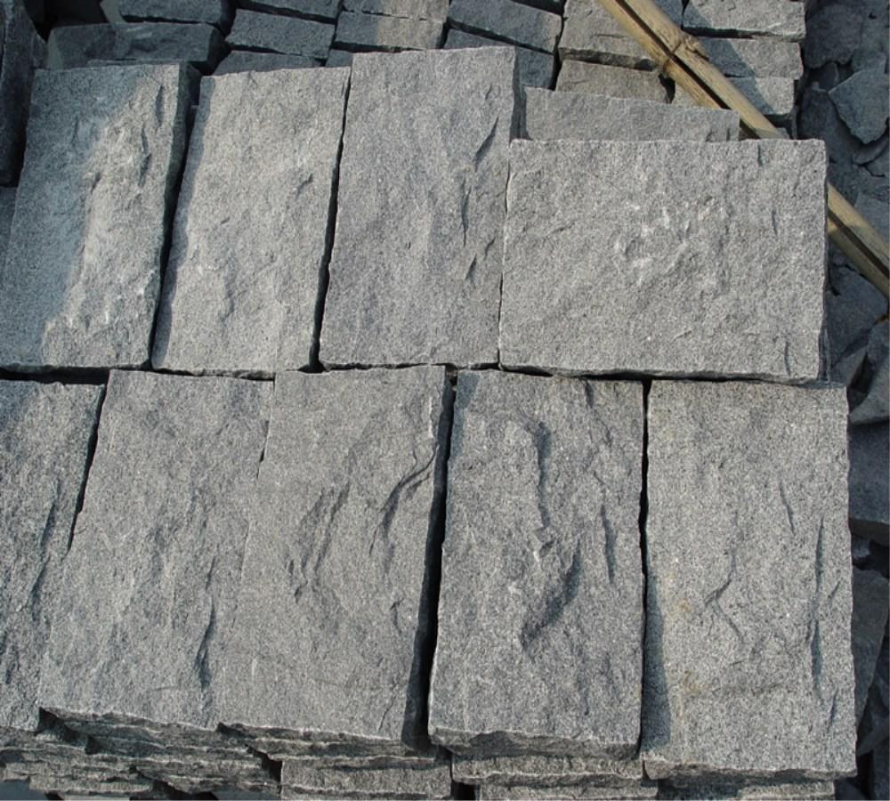 Китай, самый дешевый темно-серый гранит G654, огненный брусчатый камень