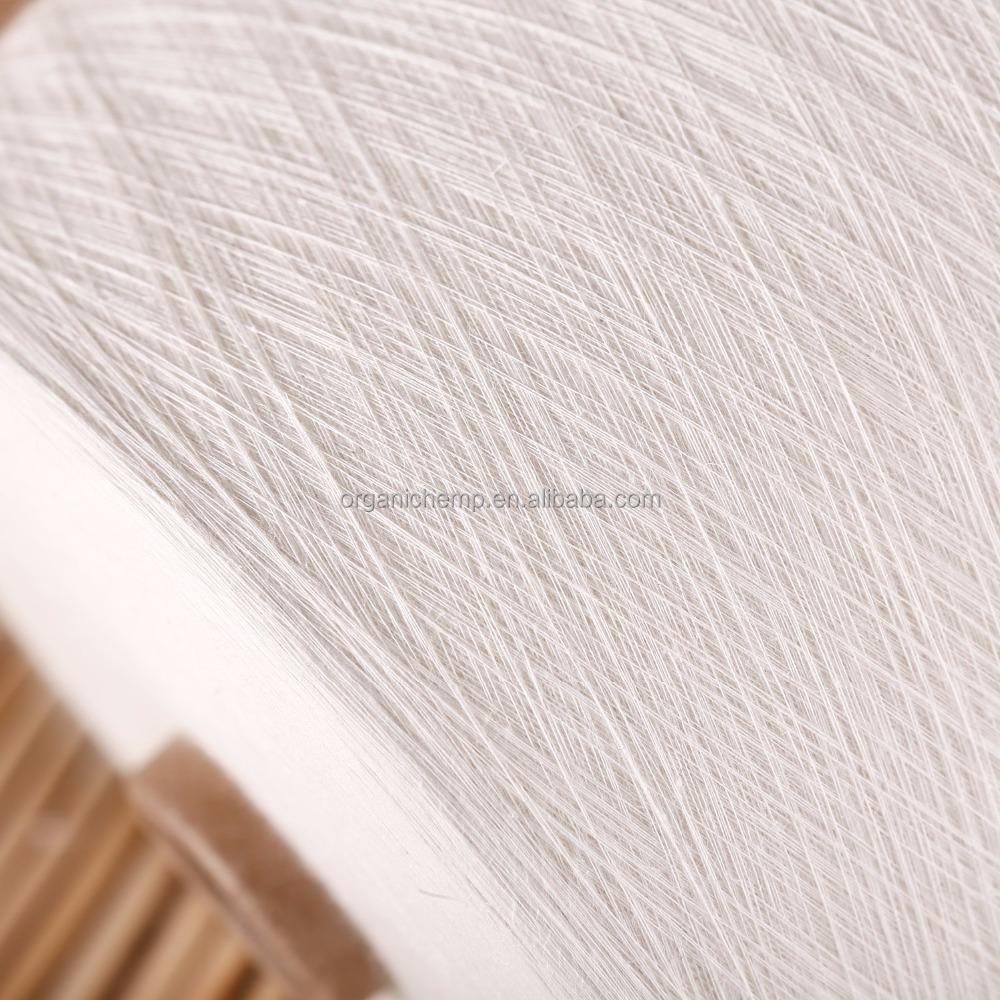 Сертифицированная 100% Органическая льняная Пряжа 20 нм для одежды