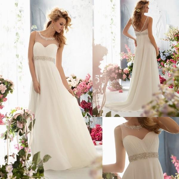 Free Shipping Sweetheart Sleeveless Sheer Top Wedding