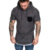 2019 summer men Tees Round neck Solid color Slim fit Hoodie T-Shirts Muscle Sweatshirt Cool Fitness Sexy muscles GYM clothes