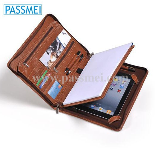 Deluxe Leather Organizer Padfolio For Ipad Buy Leather