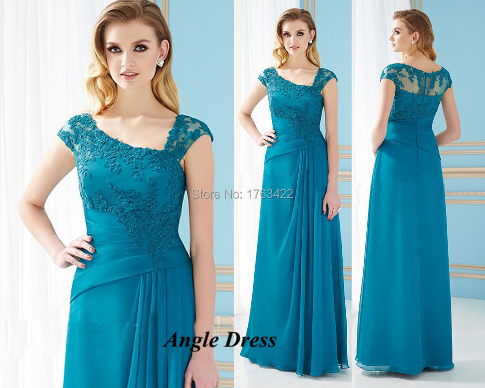 Turquoise Lace Mother Of The Bride Dresses Plus Size