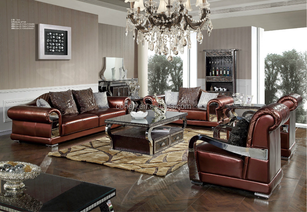 2015 New Design Living Room Furniture / Luxury Leather