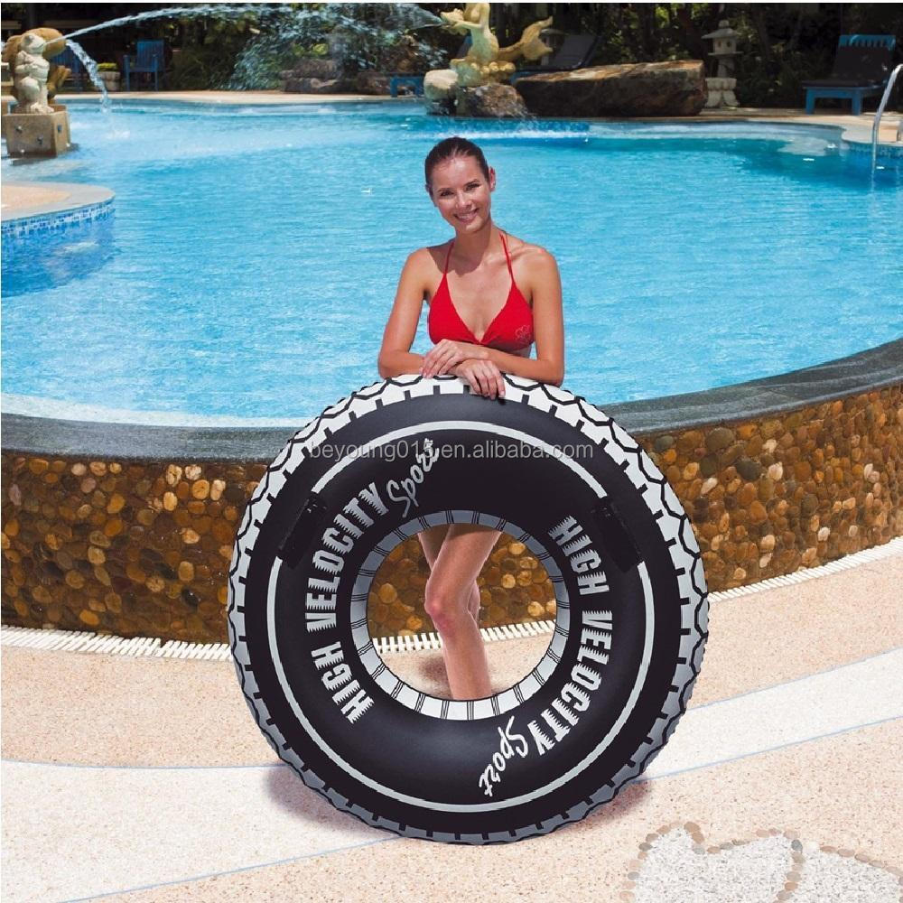47/'/'Inflatable Turbo Tyre Swim Swimming Ring Rubber Tube Lilo Pool Float