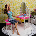 XFC Dressing Table Chair Accessories Set For Dolls Accessory Bedroom Furniture