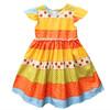striped flare sleeve girl dress