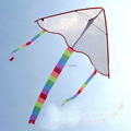 free shipping diy kite blank kite20pcs lot with handle kite line ripstop nylon fabric kite hcxkite