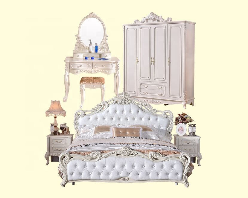 White Traditional European Style Bedroom Furniture Set View Traditional Furniture Other Product Details From Foshan Hanbang Furniture Co Ltd On Alibaba Com