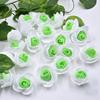 500PCSดอกไม้สีเขียวหัว
