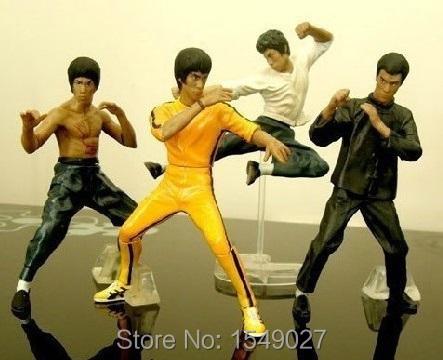 Set 4PCS Bandai Bruce Lee Kung Fu Master Legend Figures toys Sets