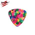 Color Picks Pickcolorful Guitar Pick Manufacture Multiple Color Choices Celluloid Triangle Shaped Guitar Picks