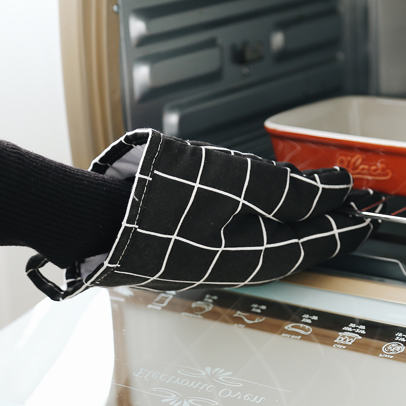 Microwave oven use heat resistant Cotton polyester blended baking cooking bbq glove