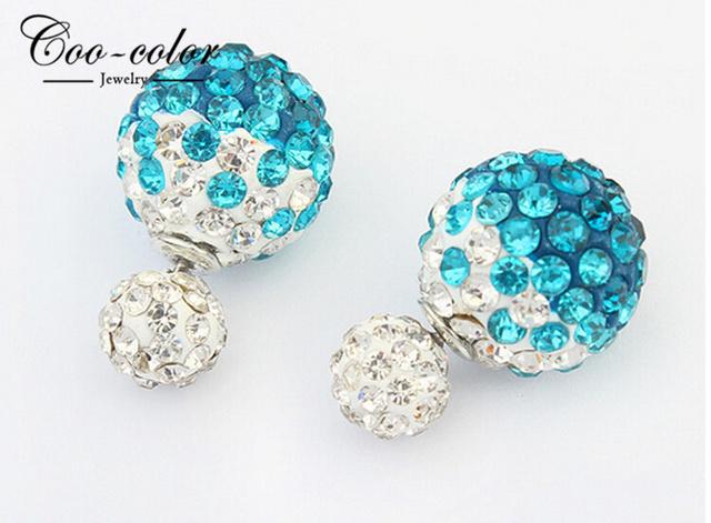 2015 date luxe cristal boucles d 39 oreilles fleur double boule perle boucles d 39 oreilles pour les. Black Bedroom Furniture Sets. Home Design Ideas
