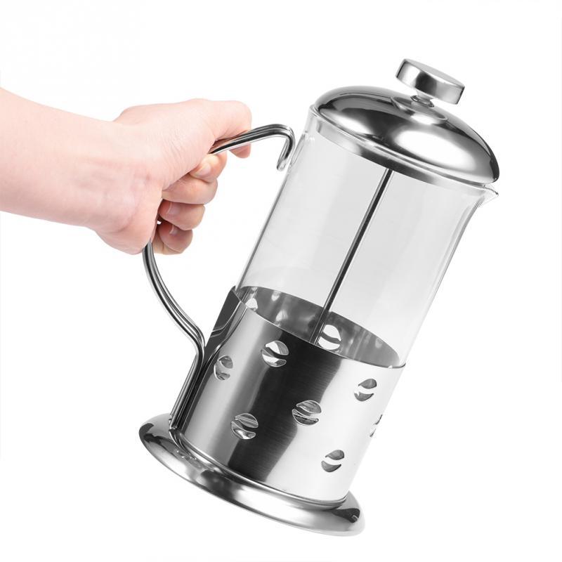 350/600/800 мл нержавеющая сталь стекло французский пресс изолированный кофе чайник кофейник фильтр молоть машина(Hong Kong,Китай)