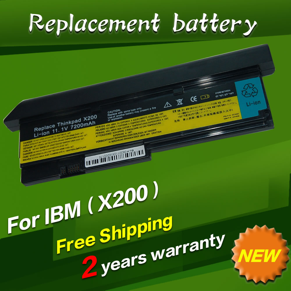 7800mAh 9 CELL NEW Laptop battery for IBM Lenovo ThinkPad X200 X200S X201 X201S X201i 42T4650