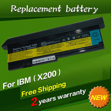 7800mAh 9 CELL NEW Laptop battery for IBM Lenovo ThinkPad X200 X200S X201 X201S X201i 42T4650 black