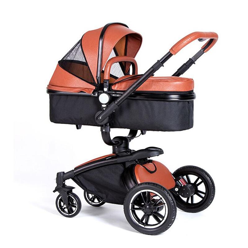 Оптовая продажа, детская коляска 2 в 1 с высоким ландшафтом, изготовленная на заказ, производитель детской коляски из Китая