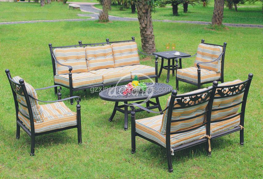 Outdoor Furniture Metal Sofa Set Home Garden Use Aluminum ...