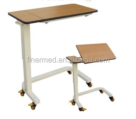 Split Top Tilting Hospital Bedside Table