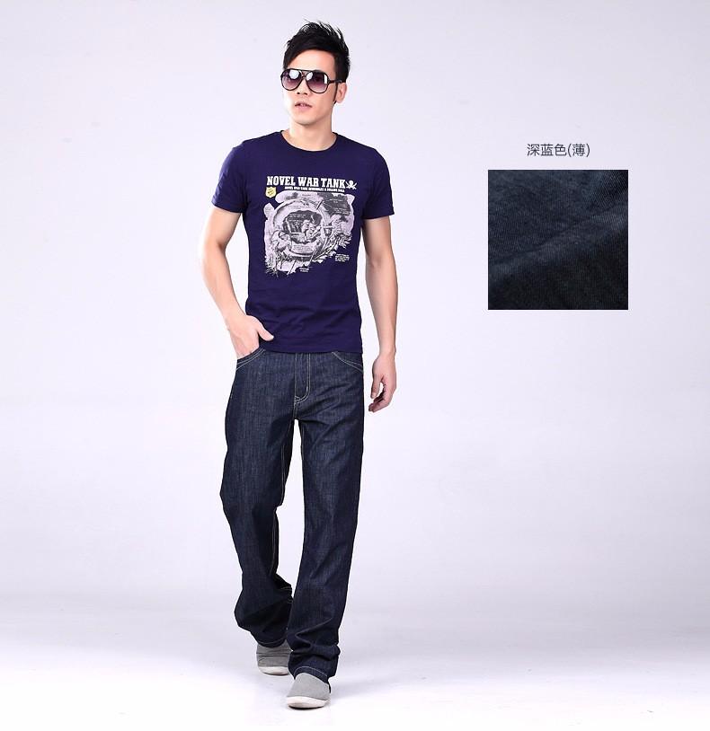 2016 אביב חדש Mens ג 'ינס אופנה אמריקאית אדם כותנה מעצבים בתוספת גודל 38 40 42 44 מכנסי ג' ינס