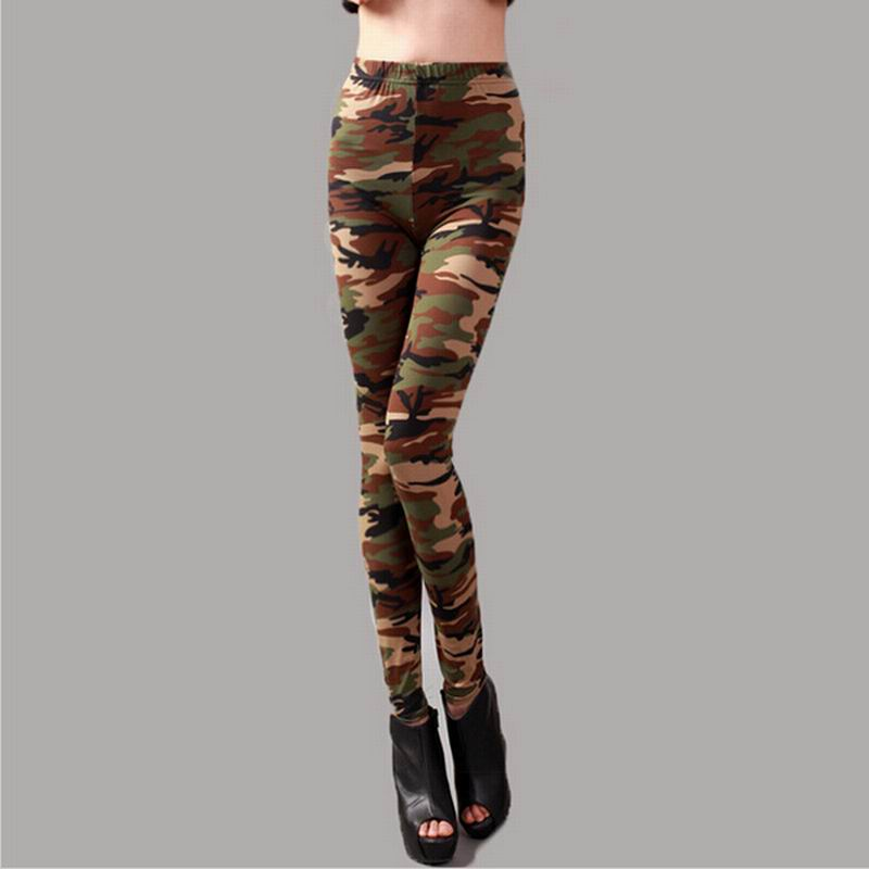 2015 Womens Graffiti Style Slim Camouflage Stretch Trouser ...