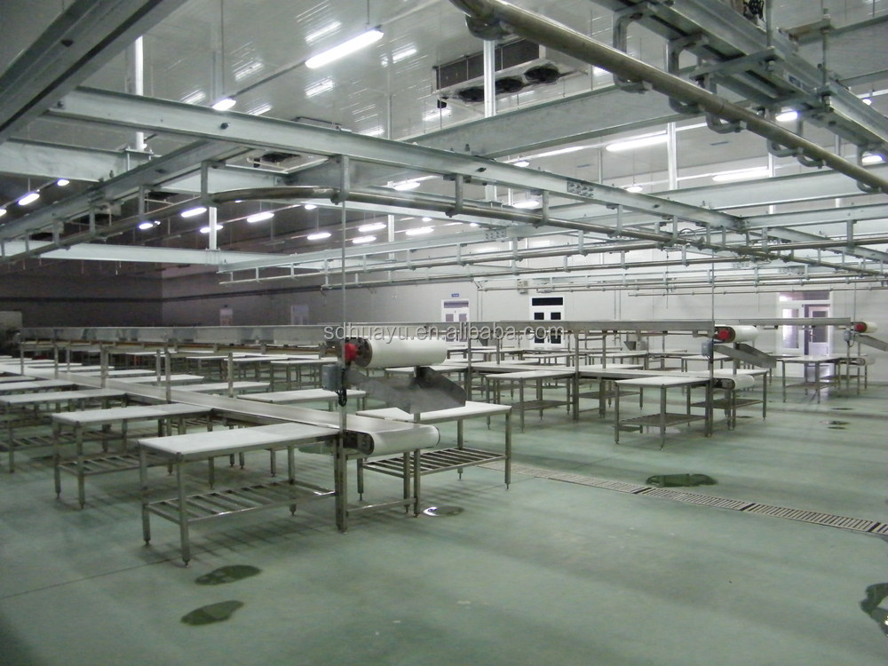 Meat conveyor for pig cattle sheep slaughterhouse