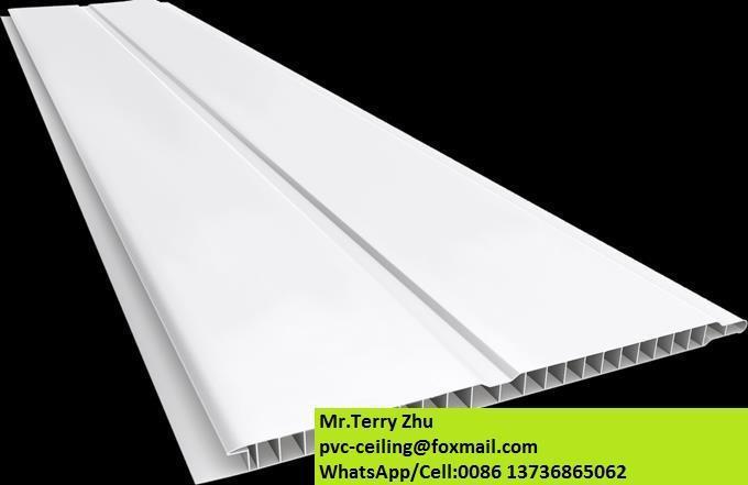 faux plafond pvc panneau stretch groove mod le chine usine tuiles de plafond id de produit. Black Bedroom Furniture Sets. Home Design Ideas