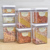 2018 Hot Sale 7-Pieces Air-Tight Food Storage Container Set /Dry Goods Pantry Organization/Plastic clear kitchen food box