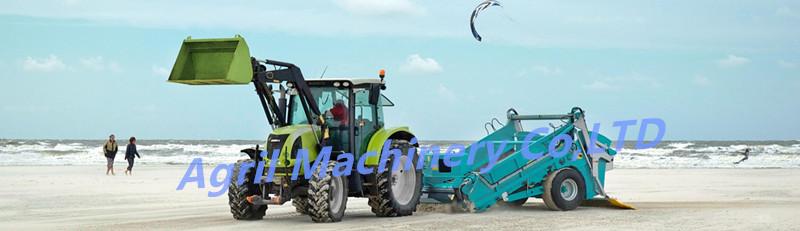 Высшее качество тракторный буксируемый очиститель для пляжа, машина для очистки пляжа, уборочная машина для пляжа, очиститель песка по лучшей цене
