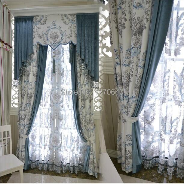 latest gamme de luxe simple style europen jardin rideau tissu moderne salon with rideau moderne. Black Bedroom Furniture Sets. Home Design Ideas