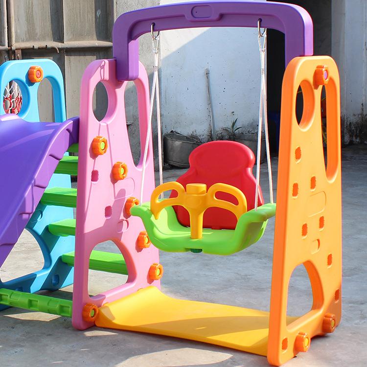 Детский Дошкольный набор из пластиковых горки и качелей с шариками 500 шт. оборудование для детской игровой площадки