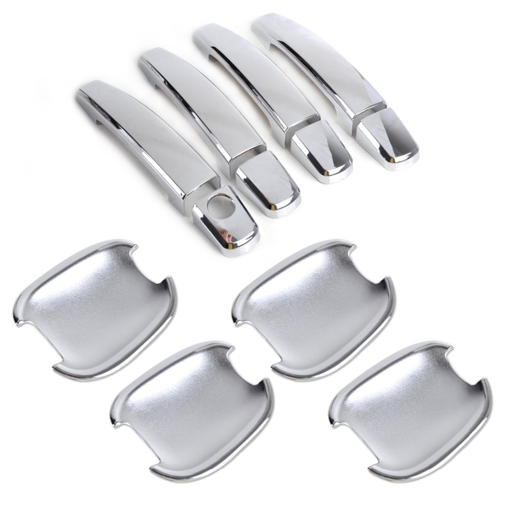 Car abs stylish decor new chrome door handle cover cup - 2012 chevy captiva interior door handle ...