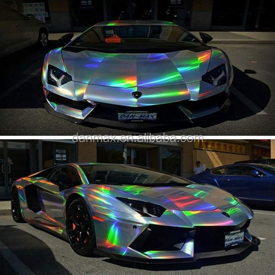 New Reflective Light Up Color Changed Chrome Laser Vinyl