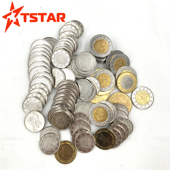 Cheap OEM ODM coin custom printed different size different metal arcade token coins washing machine coin