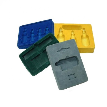 custom disposable PS flocking plastic vacuum forming blister cosmetics packaging tray