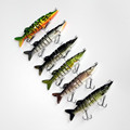 12 5cm 5inch 20g 6 colors 9 Jointed Sections Swimbait Fishing Lure Pike Muskie Bait Muliti