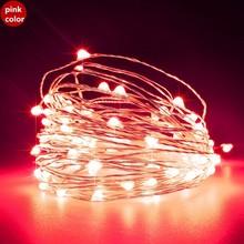 Светодиодная гирлянда 10 м 100led USB праздничный свет 5В водонепроницаемый Cooper провод сказочные огни Рождество сад Новогоднее украшение(Китай)