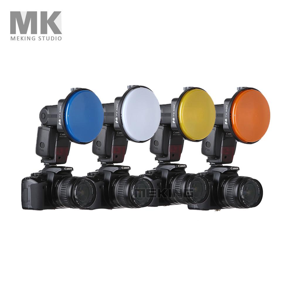 Вспышка Adapter Kit Аксессуары K9/K-9 4 Цвет Крышки фильтр для Speedlite Speedlight Фотостудия Аксессуары