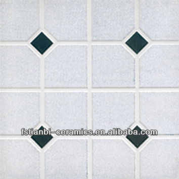 Diamond White Marble Tile Black