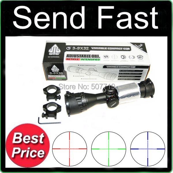 FIRECLUB Free shipping 3-9X32 AOCE With Sun Shade dense point sight tube with extinction Rifle Scope with Free MountsOriginal text