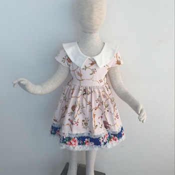 JY-319 Wholesale birthday baby frock cutting and sewing baby frocks floral vintage girls dresses