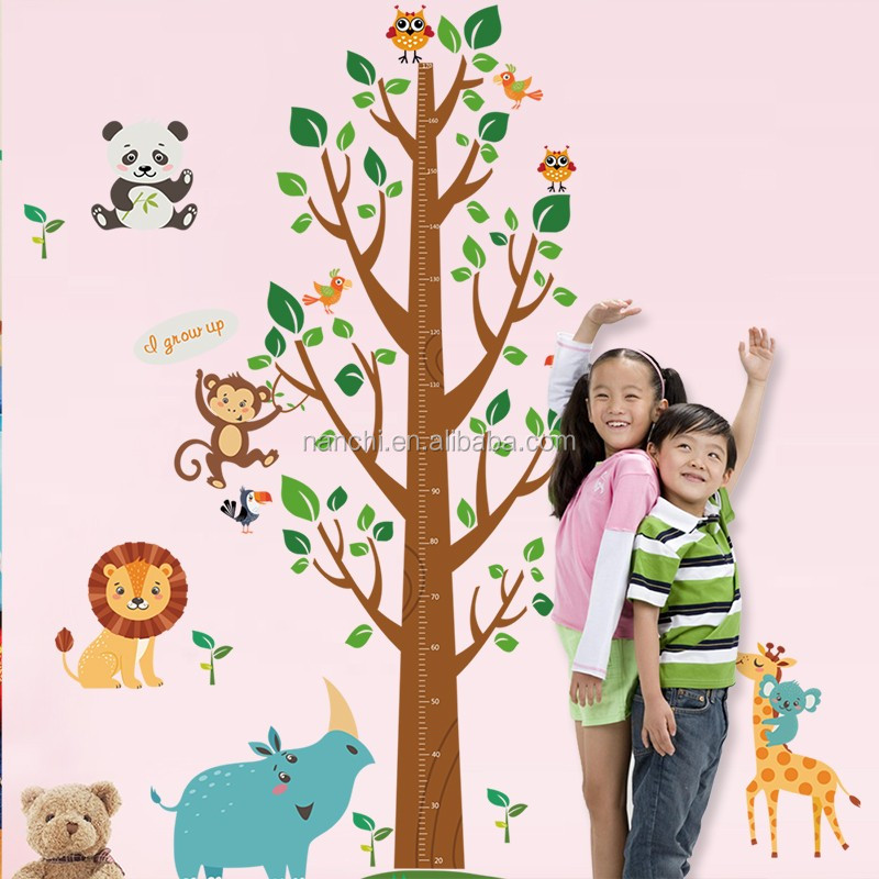 Cartoon Lion tree Wall Sticker Removable wall Stickers Kids Room Decor decals