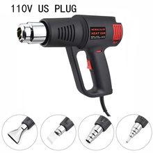 NEWACALOX EU/US 1500 Вт промышленный электрический пистолет с горячим воздухом, бесступенчатый терморегулятор, тепловой пистолет, пластиковый фона...(Китай)