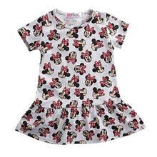 Горячая распродажа платье с Минни для маленьких детей для девочек в мультипликационном стиле рождественское платье для девочек на выход де...(Китай)