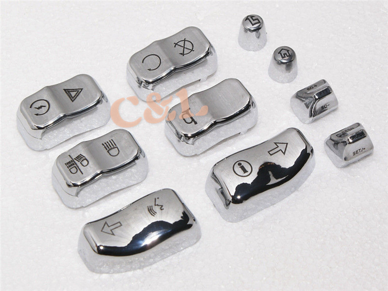 1 компл. 10 насадок(ки) серебряный ручное управление переключатель дома кнопки , пригодный для Harley Davidson 2014 - 2015