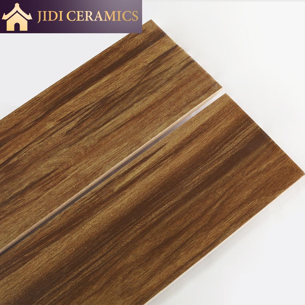 Dark Brown Walnut Look Wooden Design 20x20 Strip Wood Ceramic ...