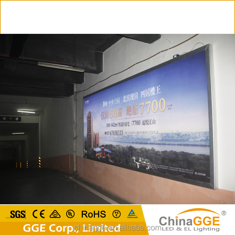 Metal aluminum frame led poster light box for easy picture changing